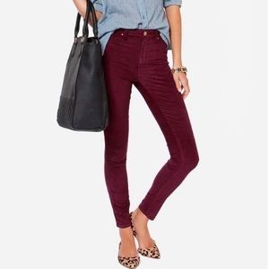 Maroon Forever 21 colored skinny jeans